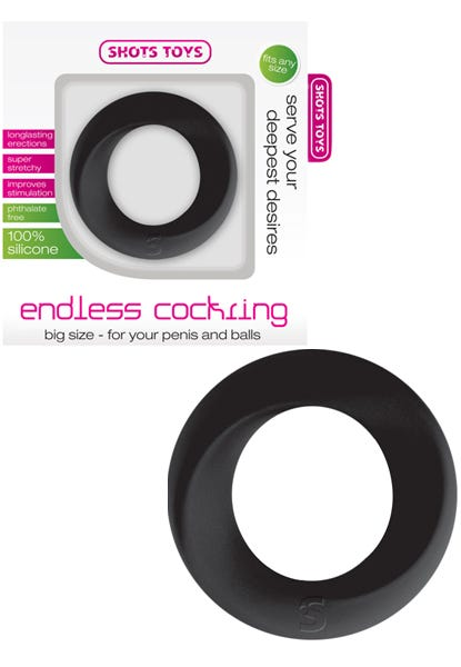 Cockring silicone XL Noir