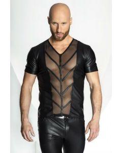 T-Shirt Noir Transparent Bimatière Homme