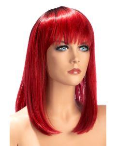 Perruque Elvira Bicolore Rouge