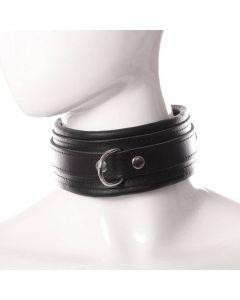 Collier cuir noir 5cm - Dèmonia