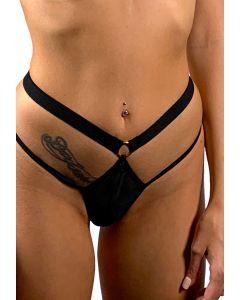Culotte ouverte en tulle à rayures - Luxure by Dorcel