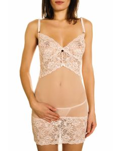 Ensemble Nuisette Rose et String Assorti Séductrice