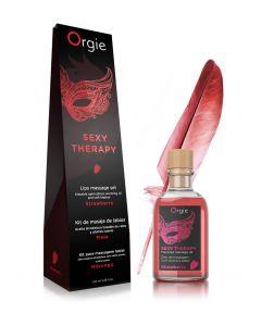Kit massage de lèvres fraise - Orgie