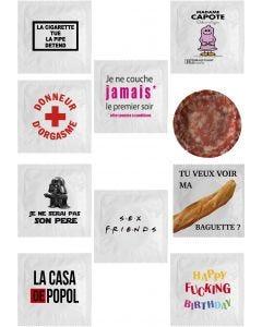 Lot de 10 préservatifs humoristique