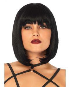 Perruque cheveux bruns carré - Leg Avenue