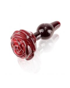 Plug Anal En Verre Rose Rouge Icicles N°76 - Pipedream