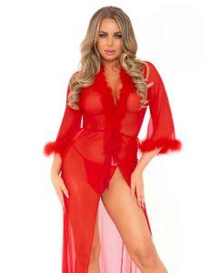 Robe Longue Rouge Et String