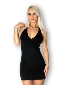 Robe Noir Moulante Dos Nu à Bijou