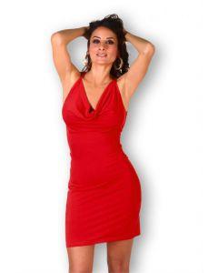 Robe Rouge Décoletté Poitrine - Robe sexy