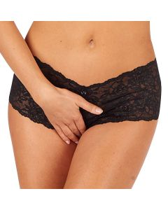 Shorty Ouvert Dentelle Noir Collection Libertine - Lingerie Sexy