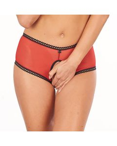 Shorty Ouvert Tulle Rouge Collection Tentatrice