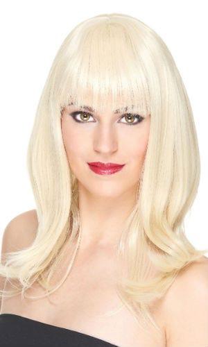 Perruque blonde cheveux longs pour soirée déguisée !
